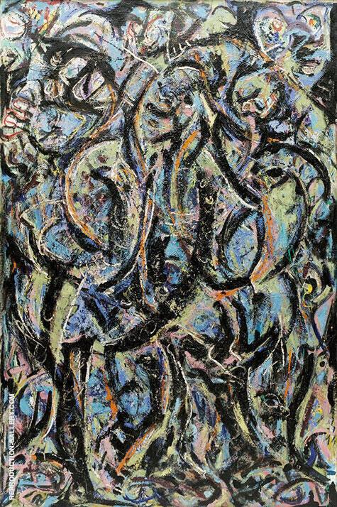 Gothic 1944 By Jackson Pollock