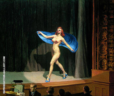 Girlie Show 1941 By Edward Hopper