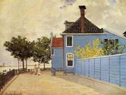 The Blue House Zandaam 1871 By Claude Monet