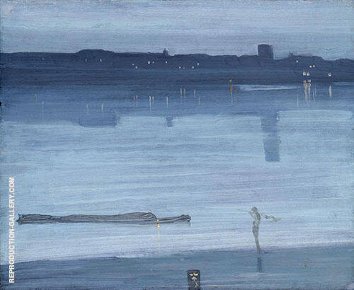 Nocturne: Blue and Silver Chelsea 1871 Painting By James McNeill Whistler