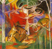 Deer in the Forest I By Franz Marc