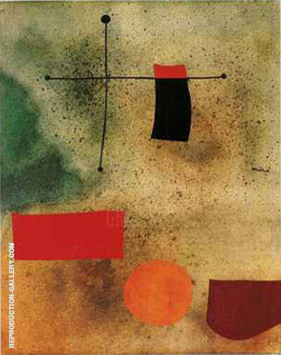 Abstrait Painting By Joan Miro - Reproduction Gallery