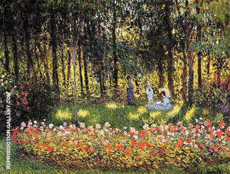 The Artist's Family in the Argenteuil By Claude Monet Replica Paintings on Canvas - Reproduction Gallery