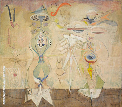 Slow Swirl at the Edge of the Sea 1944 By Mark Rothko