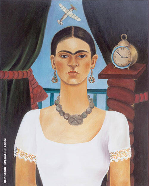 Reproduction of Self Portrait 1925 by Frida Kahlo | Oil Painting Replica On CanvasReproduction Gallery