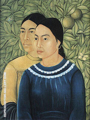 Two Woman 1929 By Frida Kahlo - Oil Paintings & Art Reproductions - Reproduction Gallery