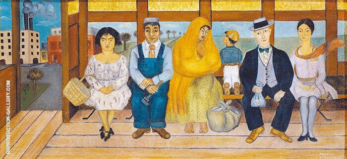 The Bus 1929 Painting By Frida Kahlo - Reproduction Gallery