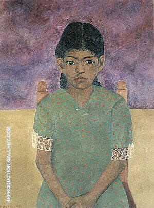 Portrait of Virginia Nina 1929 By Frida Kahlo Replica Paintings on Canvas - Reproduction Gallery