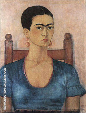 Self Portrait 1930 Painting By Frida Kahlo - Reproduction Gallery