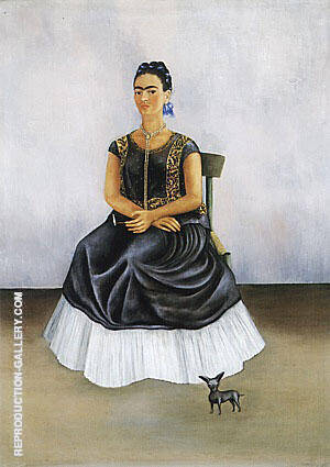 Itzcuintli Dog with Me 1938 By Frida Kahlo - Oil Paintings & Art Reproductions - Reproduction Gallery