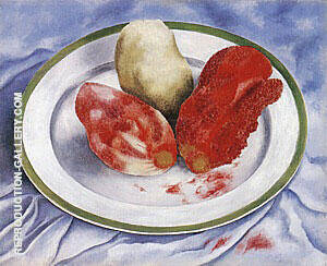 Tunas Still Life with Prickly Pear Fruit 1938 Painting By Frida Kahlo