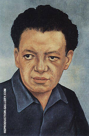 Portrait of Diego Rivera 1937 By Frida Kahlo - Oil Paintings & Art Reproductions - Reproduction Gallery