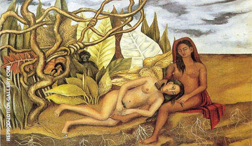 Two Nudes in a Forest 1939 By Frida Kahlo Replica Paintings on Canvas - Reproduction Gallery