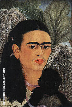 Fulang Chang and I 1937 By Frida Kahlo - Oil Paintings & Art Reproductions - Reproduction Gallery