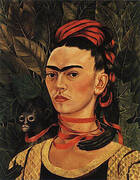 Self Portrait with Monkey 1940 By Frida Kahlo