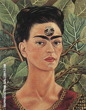 Thinking About Death 1943 By Frida Kahlo Replica Paintings on Canvas - Reproduction Gallery