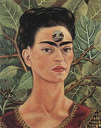 Thinking About Death 1943 By Frida Kahlo