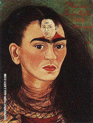 Diego and I 1949 Painting By Frida Kahlo - Reproduction Gallery