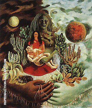 Love Embrace of The Universe 1949 By Frida Kahlo