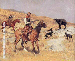 His Last Stand, 1895 Painting By Frederic Remington - Reproduction Gallery