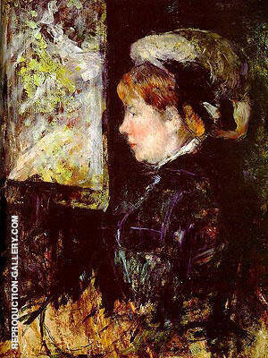 The Visitor (Portrait of a Woman in Profile) Painting By Mary Cassatt