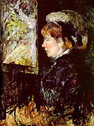 The Visitor (Portrait of a Woman in Profile) By Mary Cassatt