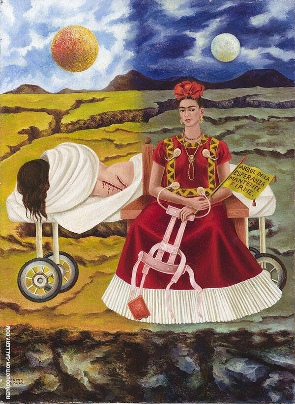 Tree of Hope 1946 by Frida Kahlo | Oil Painting Reproduction Replica On Canvas - Reproduction Gallery