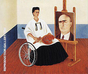 Self Portrait with the Portrait of Doctor Farill 1951 Painting By ...