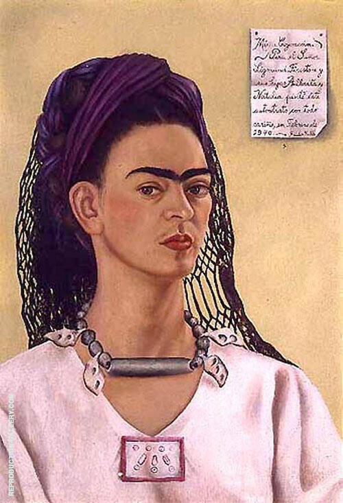 Self Portrait Dedicated to Sigmund Firestone 1940 By Frida Kahlo