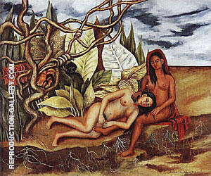 The Earth Itself Two Nudes in the Jungle 1939 By Frida Kahlo Replica Paintings on Canvas - Reproduction Gallery