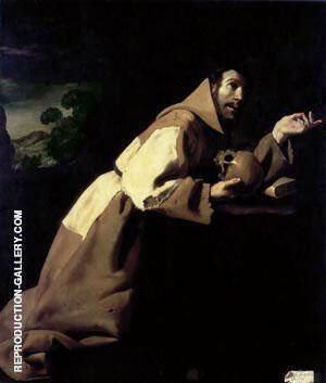 Francisco de Zubaran, St Francis Meditating 1639 By Francisco De Zurbaran