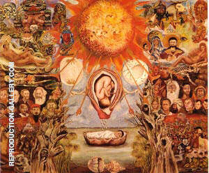 Moses 1945 Nucleus of Creation By Frida Kahlo - Oil Paintings & Art Reproductions - Reproduction Gallery