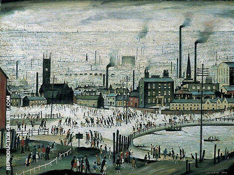 An Industrial Town 1944 By L-S-Lowry