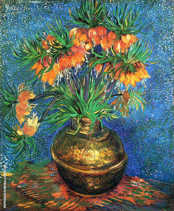 Fritillaries in a Copper Vase Painting By Vincent van Gogh