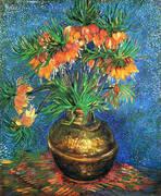 Fritillaries in a Copper Vase By Vincent van Gogh
