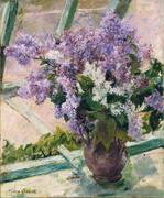 Lilacs In a Window 1889 By Mary Cassatt