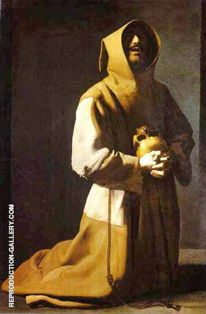 St. Francis Kneeling 1635-39 By Francisco De Zurbaran
