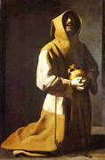 St. Francis Kneeling 1635-39 By Francisco De Zurbaran