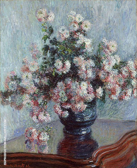 Chysanthemums 1882 By Claude Monet