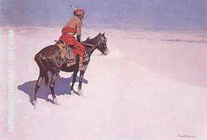 The Scout Friends or Enemies Painting By Frederic Remington