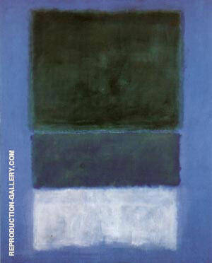 No 14 White and Greens in Blue 1957 Painting By Mark Rothko