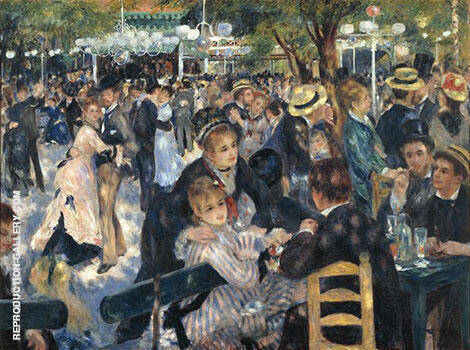 Le Moulin de la Galette By Pierre Auguste Renoir - Oil Paintings & Art Reproductions - Reproduction Gallery