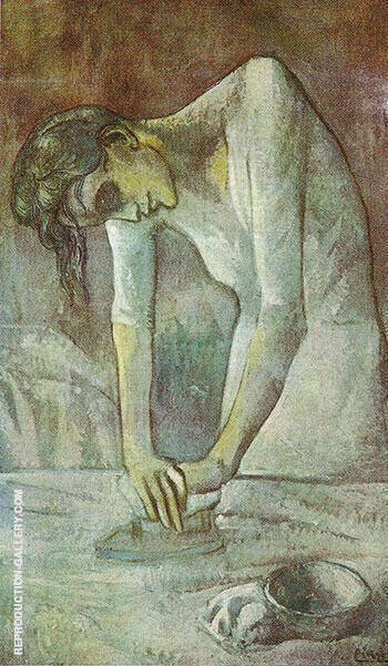 Woman Ironing 1904 By Pablo Picasso - Oil Paintings & Art Reproductions - Reproduction Gallery