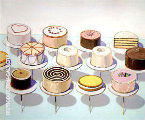 Cakes 1963 Painting By Wayne Thiebaud - Reproduction Gallery