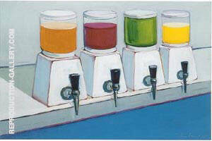 Drink Syrups 1961 Painting By Wayne Thiebaud - Reproduction Gallery