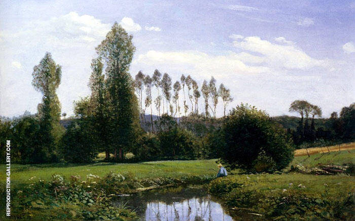 View of Rouelles 1858 Painting By Claude Monet - Reproduction Gallery