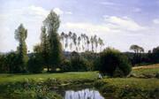 View of Rouelles 1858 By Claude Monet