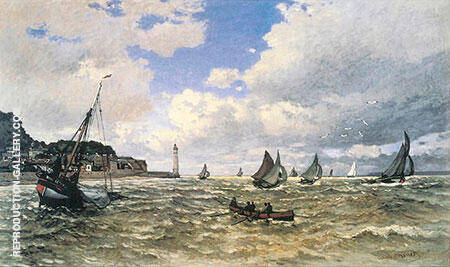 Mouth of the Seine at Honfleur 1865 By Claude Monet
