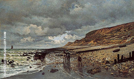 The Pointe de la Have at Low Tide 1865 By Claude Monet