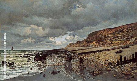 The Pointe de la Heve at Low Tide 1865 By Claude Monet